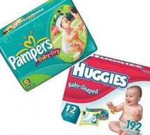 Pampers Huggies diapers