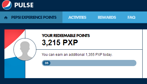 pepsi experience points